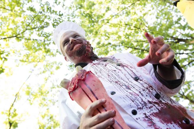 Vancouver Zombie Walk, Sept. 6th 2014. Kirk Chantraine photo.