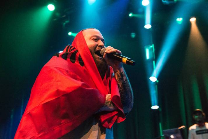 Action Bronson at the Vogue Theatre, Vancouver, May 21 2015. Pavel Boiko photo.