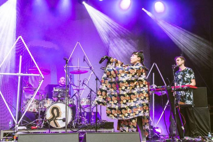 Little Dragon at the Malkin Bowl, Vancouver, May 23 2015. Pavel Boiko photo.