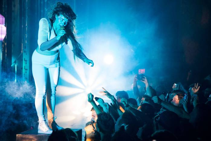 Purity Ring at the Vogue Theatre, Vancouver, June 15 2015. Kirk Chantraine photo.