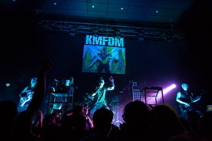 KMFDM at the Imperial Theatre, Vancouver, July 19 2015. Kirk Chantraine photo.