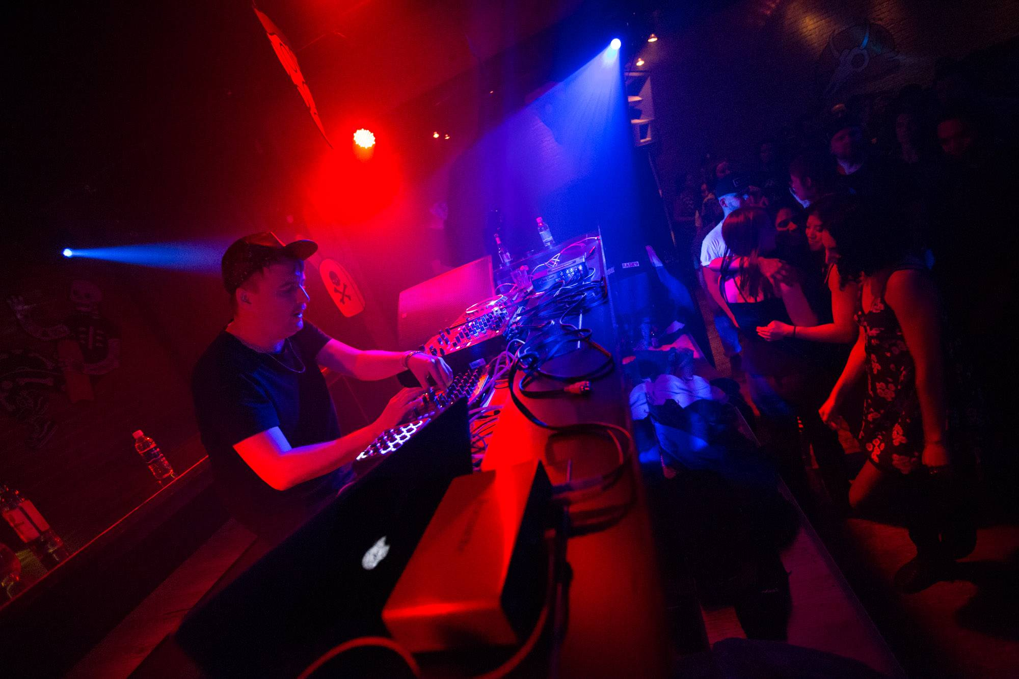 Machinedrum at Fortune Sound Club, Vancouver, Oct 29 2015. Kirk Chantraine photo.