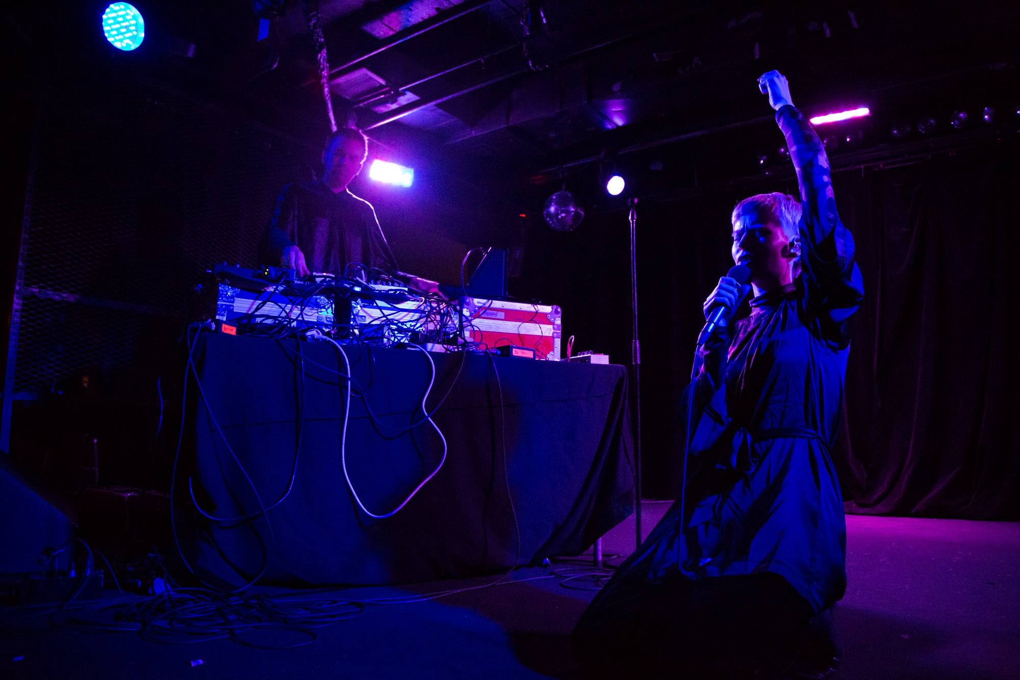 Jenny Hval at the Biltmore Cabaret, Vancouver, Nov. 16 2016. Kirk Chantraine photo.