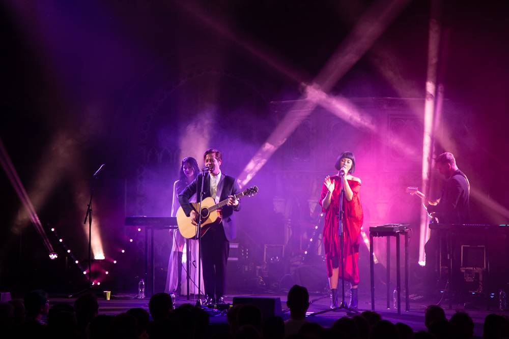 The Naked And Famous at the Union Chapel, London, July 16 2018. Kirk Chantraine photo.