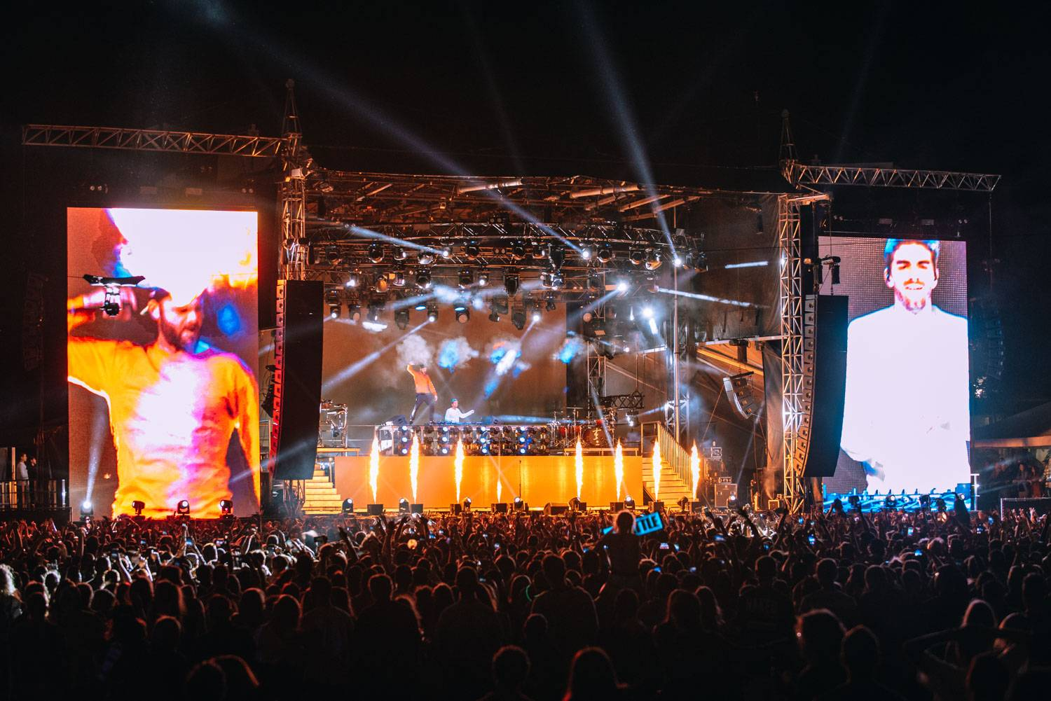 Chainsmokers at the Bumbershoot Music Festival 2018 - Day1. Aug 31 2018. Pavel Boiko photo.