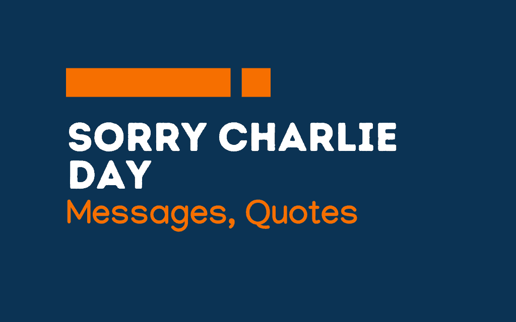 National Sorry Charlie Day: 51+ Messages and quotes