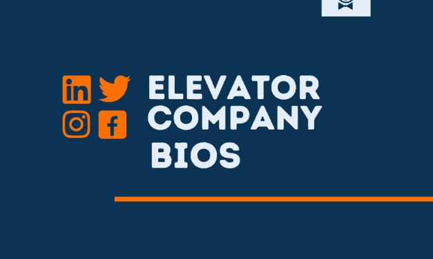 101+ Best Elevator Company bios for Social media