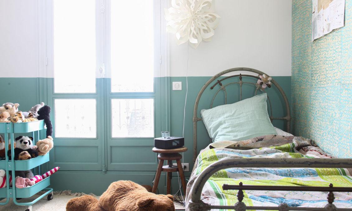 chambre d enfant coloree couleur menthe a l eau beatrice laval paris