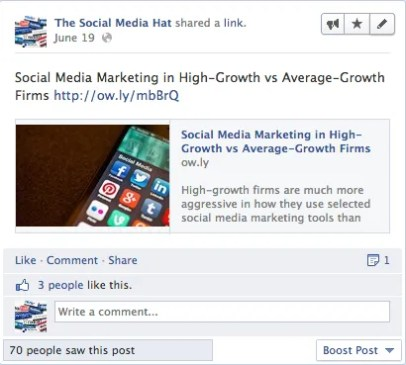Facebook Image Preview Post