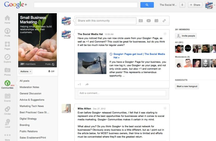 If you haven't yet joined any communities with your Google+ Page, do so now.