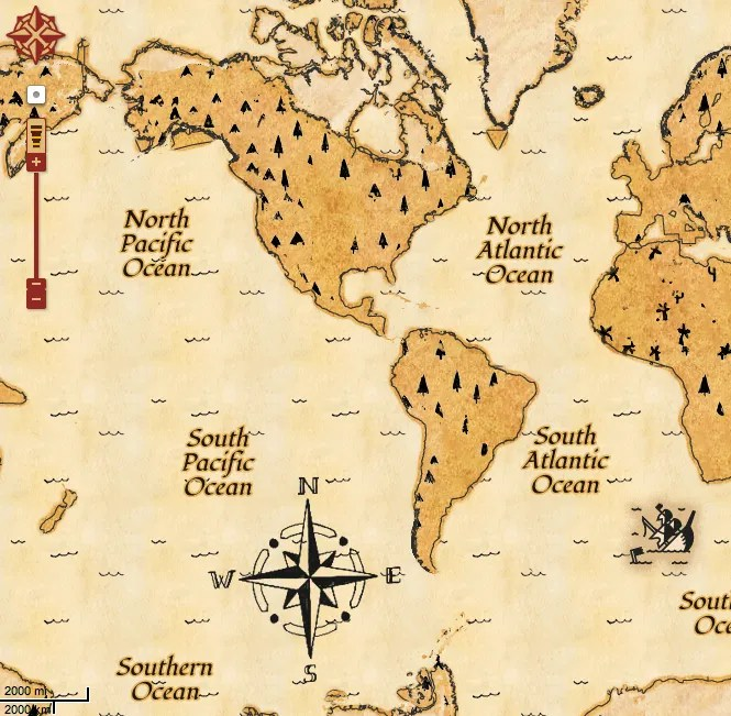 Google Maps - Treasure Map Style