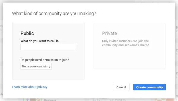 What kind of community are you making?