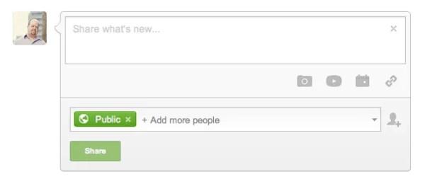 Google+ Status Update