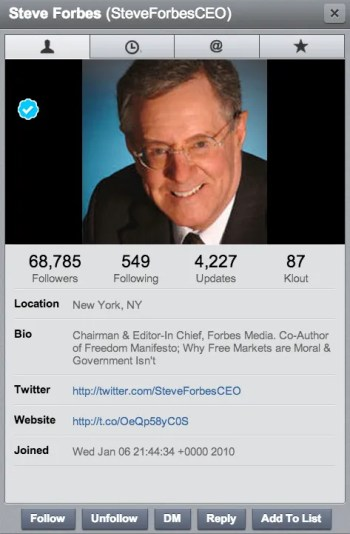 HootSuite Twitter Profiles display more than just the Twitter Bio.