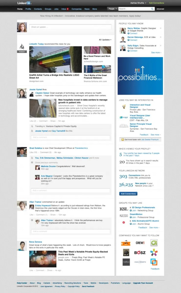 LinkedIn Rolls Out New Design