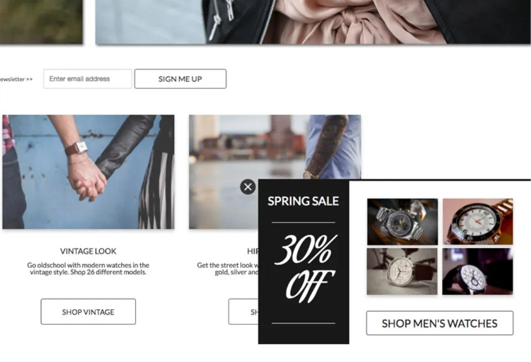 eCommerce Scroll Sidebar Example