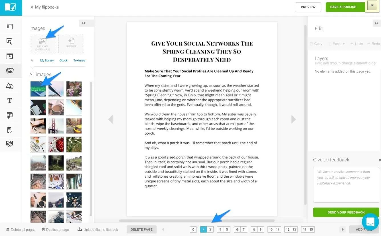 Using Flipsnack to create a gorgeous online PDF from blog post.