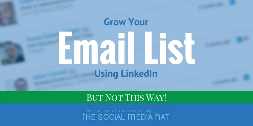 LinkedIn offers an incredibly easy way to move your LinkedIn Connections into your email client, or even an email marketing software like MailChimp. But should you? What are the alternatives?