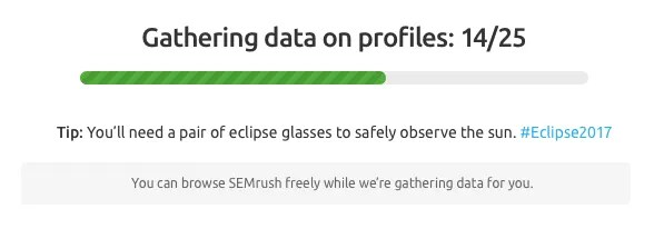 SEMrush: Interface Eclipse