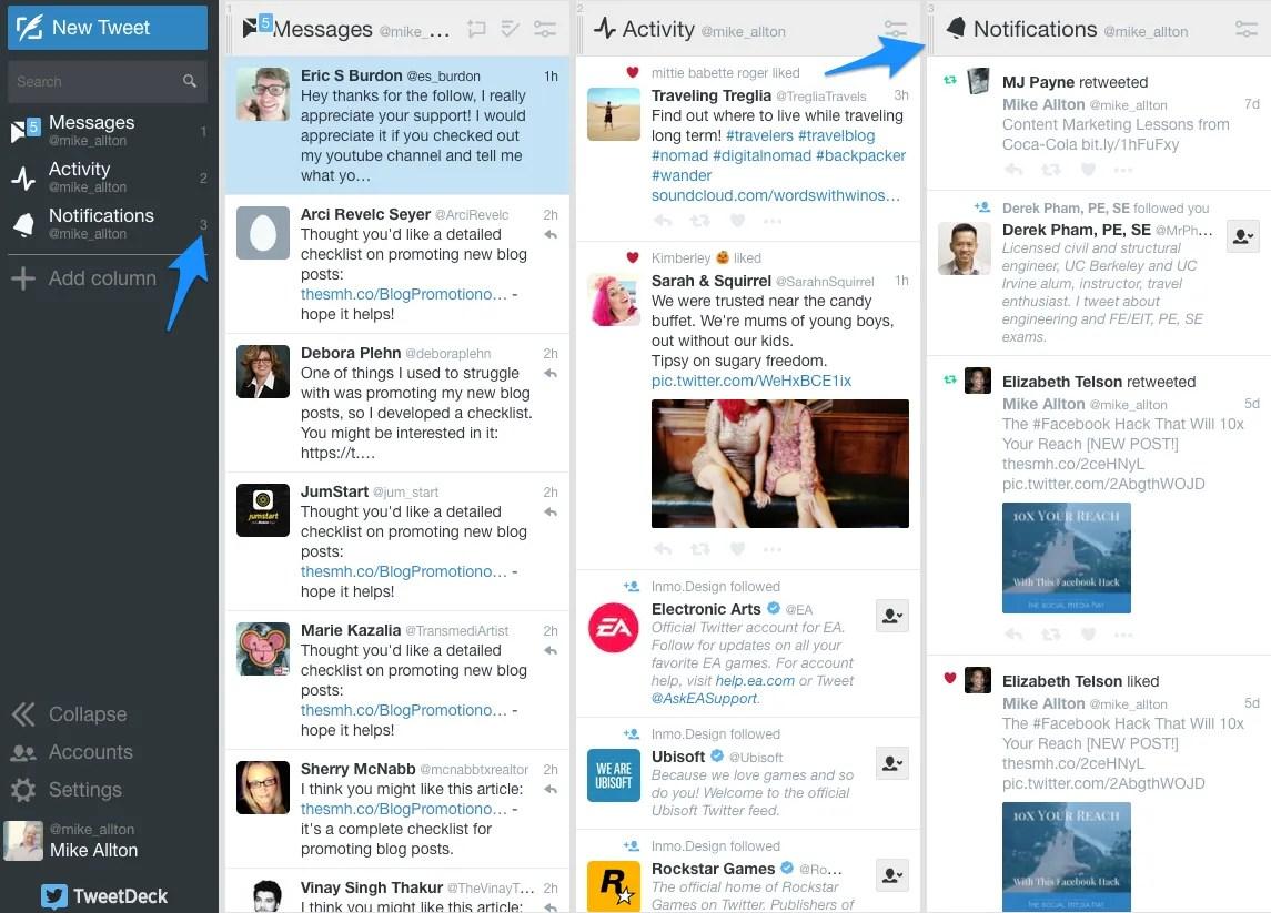 Move And Customize TweetDeck Columns
