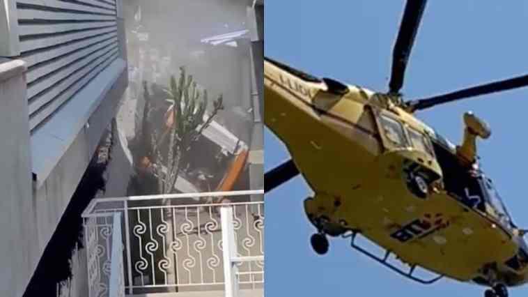 Autobus precipitato a Capri: sale il bilancio, un morto. Vigili del fuoco arrivati in elicottero