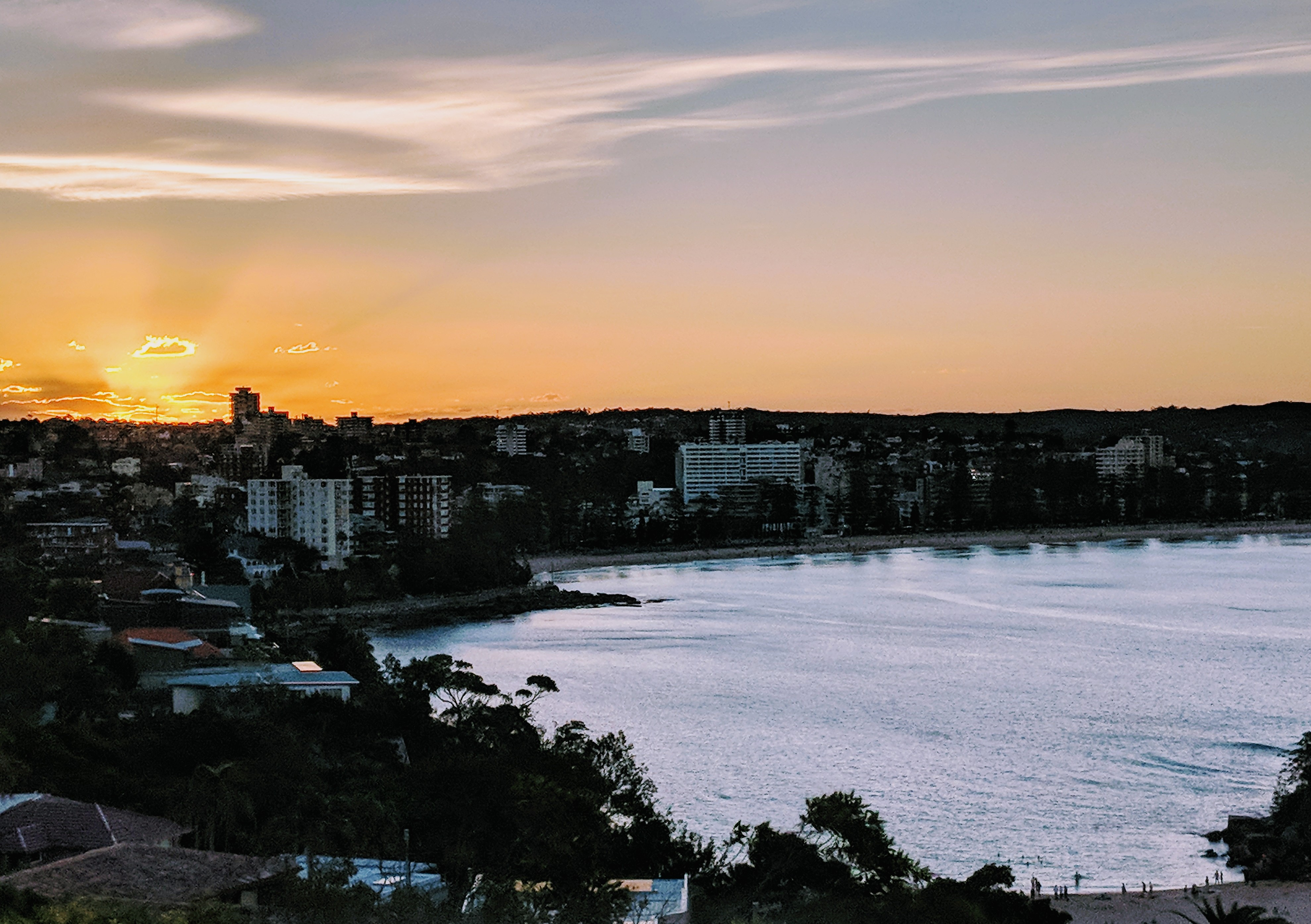 Sunset Overlooking Manly Beach