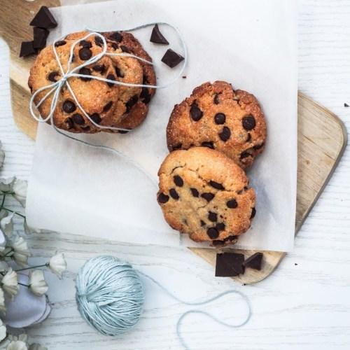 Süßkartoffel Cookies mit dunkler Schokolade - vegan, glutenfrei und kalorienreduziert
