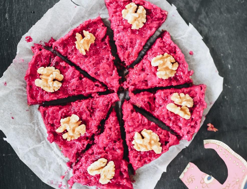 Gesunder Rote Beete Kuchen, vegan, paleo, glutenfrei