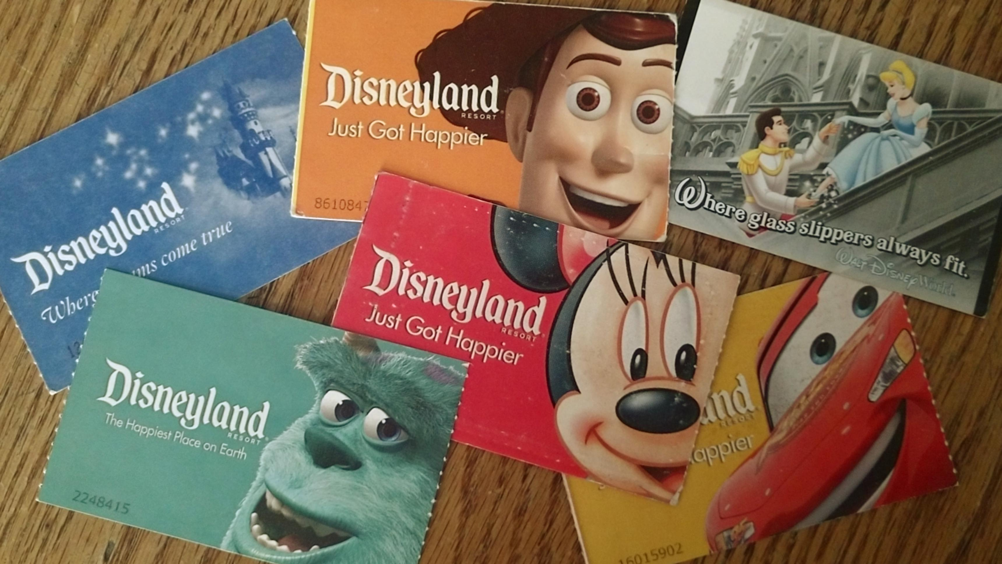 Tickets to Disneyland and Disney World