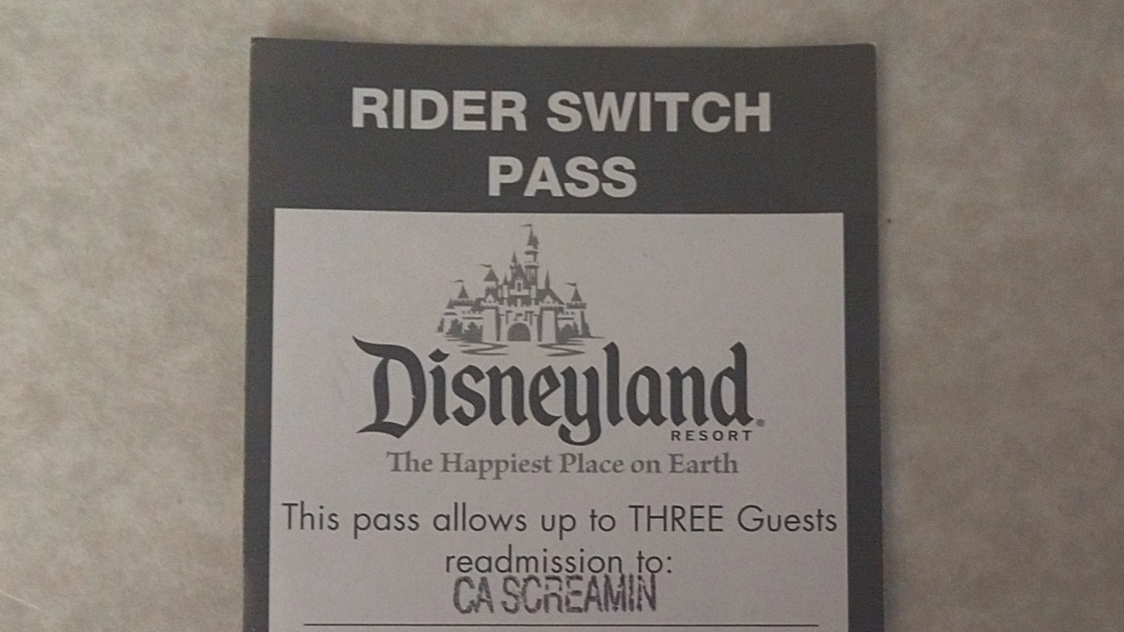 Old Rider Switch Pass