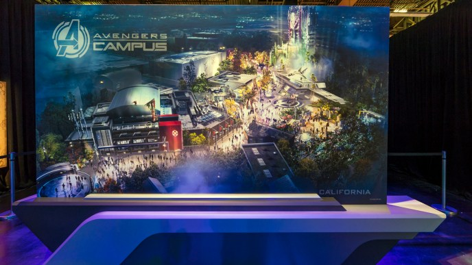 Concept Art for the Avengers Campus area coming to Disney California Adventure in 2020.