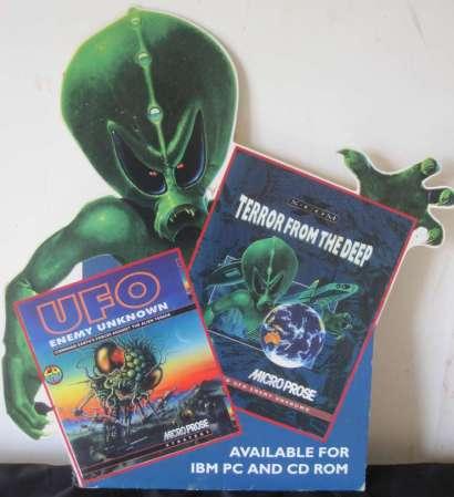 Original XCOM marketing standee rescued by John Broomhall