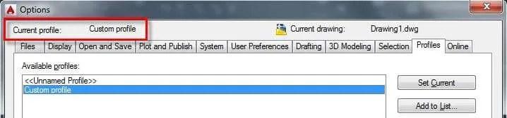 Migrate custom settings of AutoCAD
