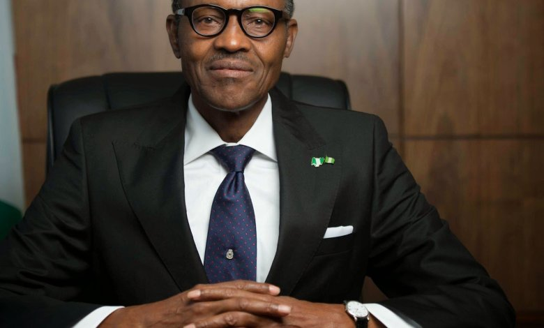 Pictured President of Nigeria President Muhammadu Buhari