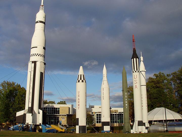 Rockets in Huntsville, Alabama.
