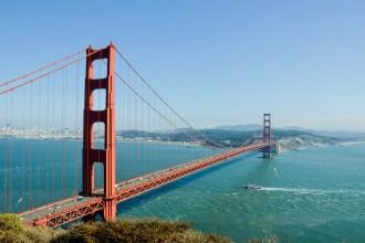 The Golden Gate Bridge in San Francisco.