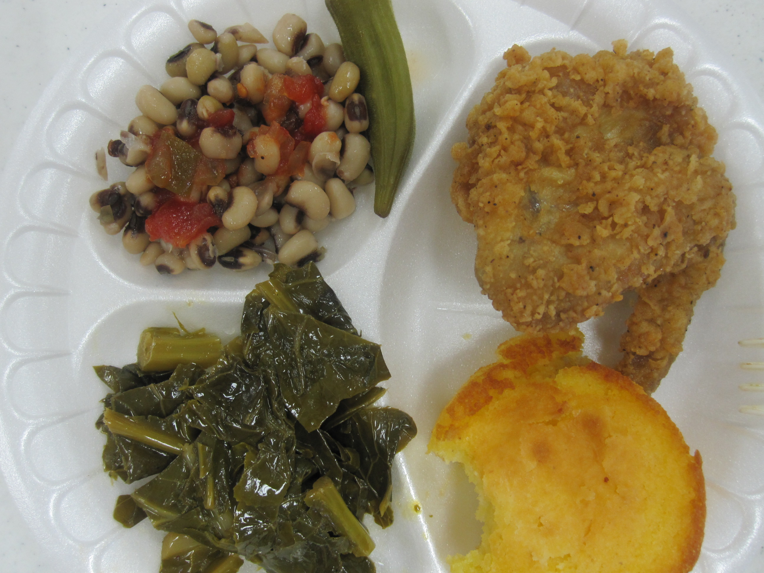 And Fried Eyed Greens Chicken Okra Peas And Fried And Collard Black