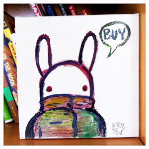 Bunny Buy water colour on canvas January 2014