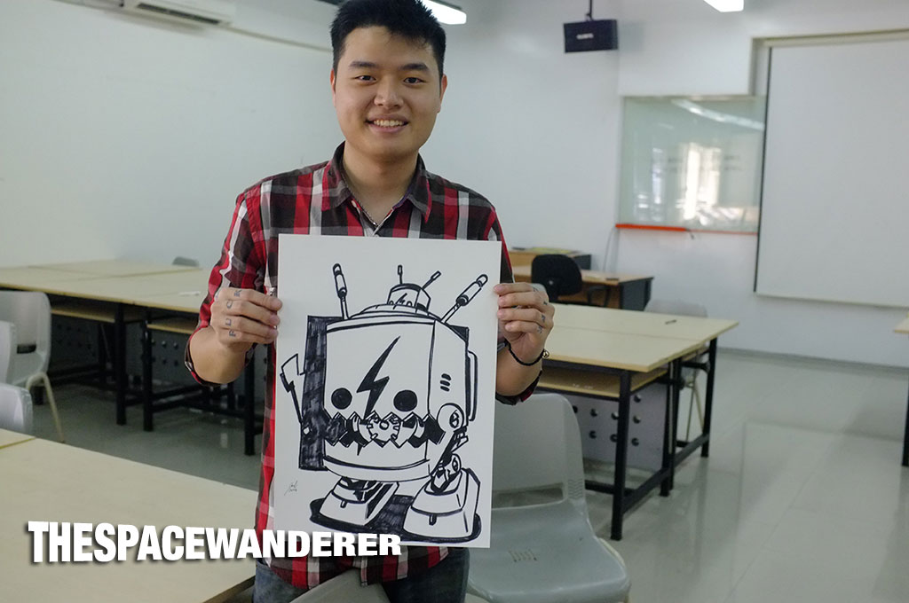 Joel Febianto and his awesome drawing of Lemi