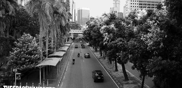 Jakarta disaat libur Lebaran 30 Juli 2014