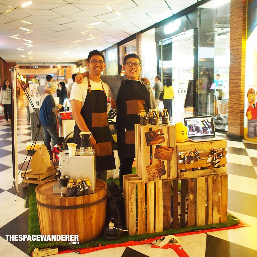 Angga Prasetya and Eric Wirjanata with an optimistic look