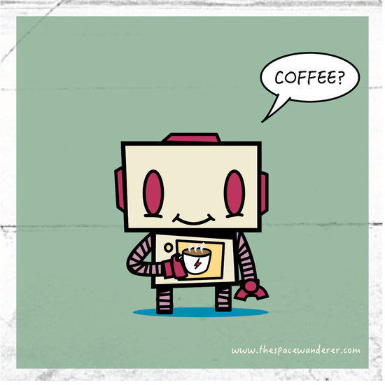 Coffee activated robot