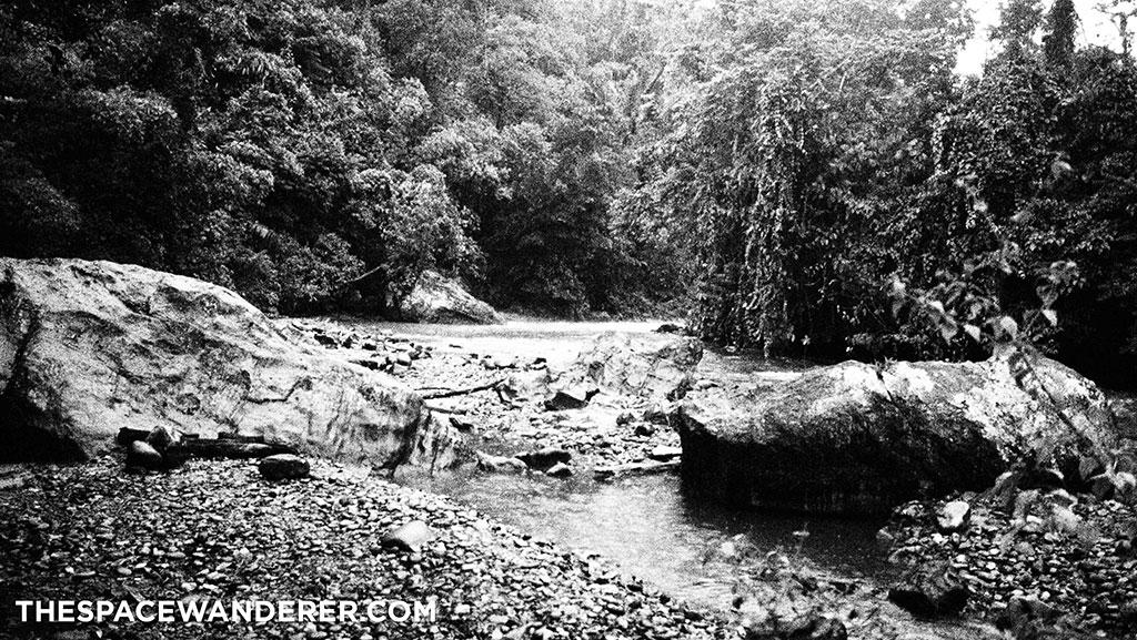 a river to Danau Lindu