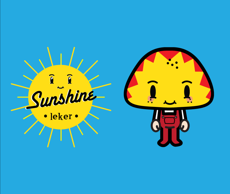 Sunshine Leker Logo and Mascot