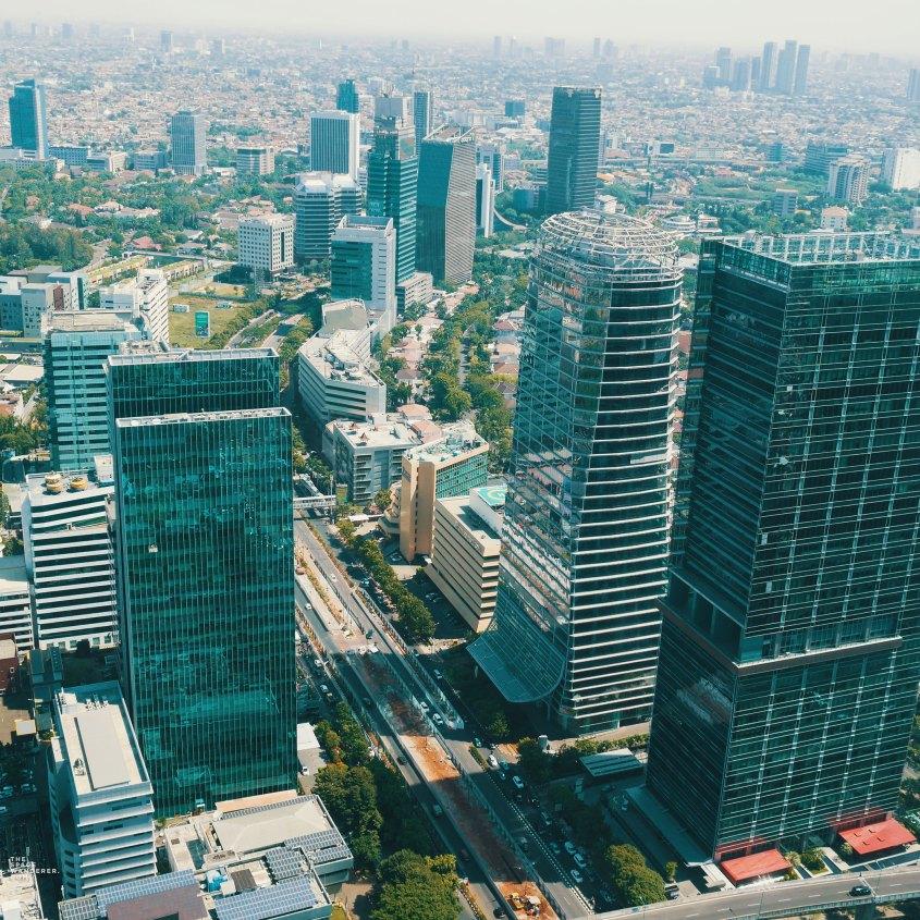 Jakarta City Skyline as seen from Westin Hotel, Gama Building