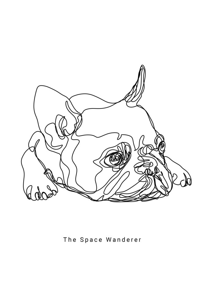 french bulldog one line art