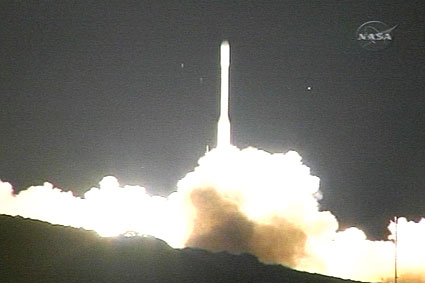 The launch of the Orbiting Carbon Observatory (courtesy NASA).