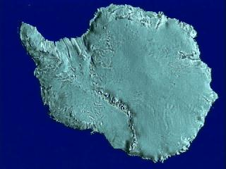 Antarctica, from a NASA animation.
