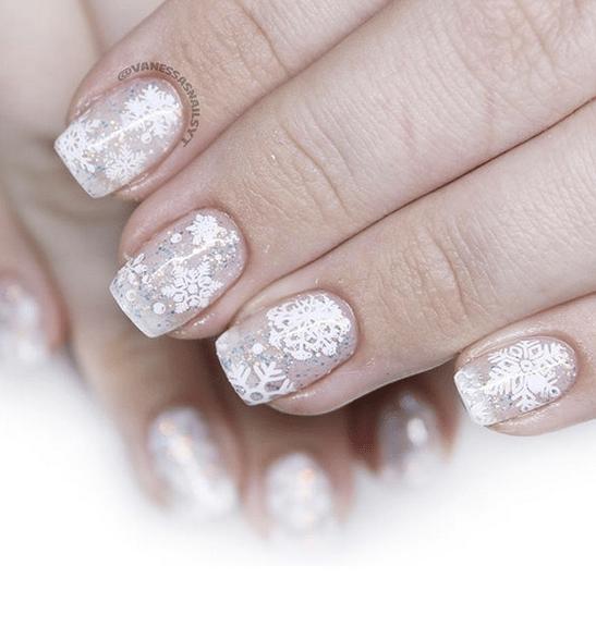 Snow burst winter nails