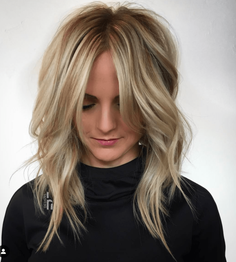 Blond Shag Long Layers Hairstyle